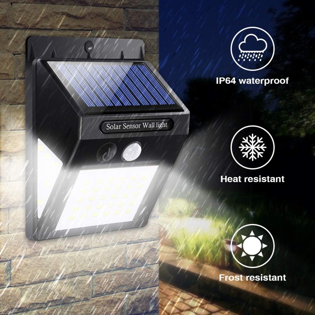 40 LED Solar Motion Sensor Wall Lights-2