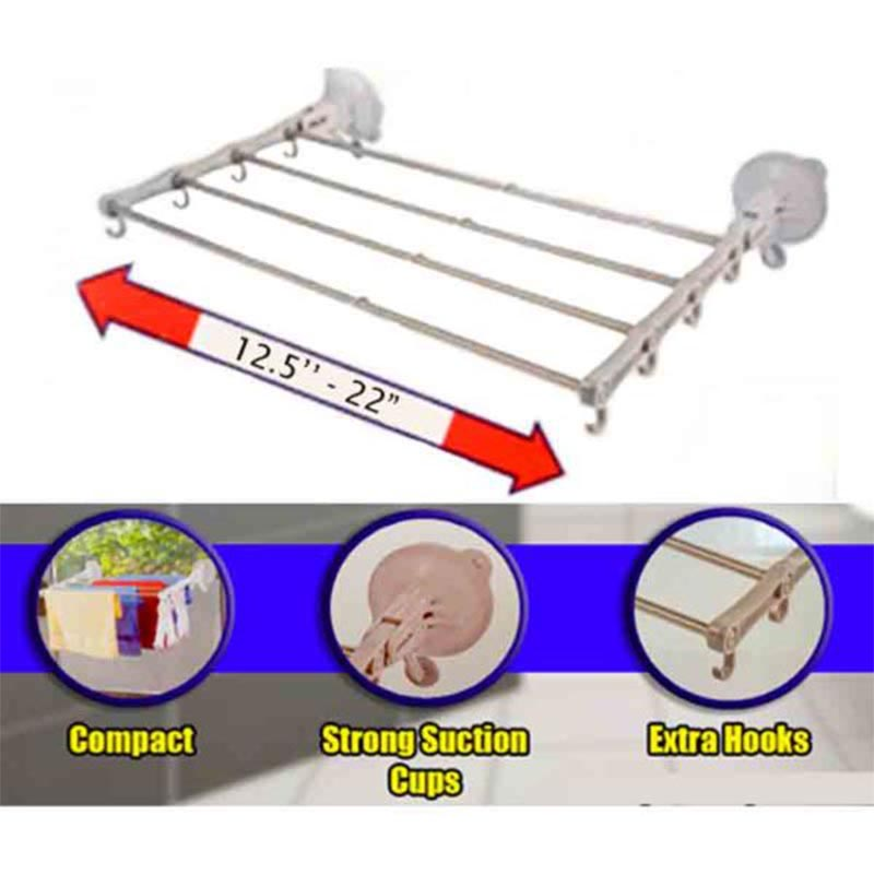 Telescopic Rack Strong Suction Cup