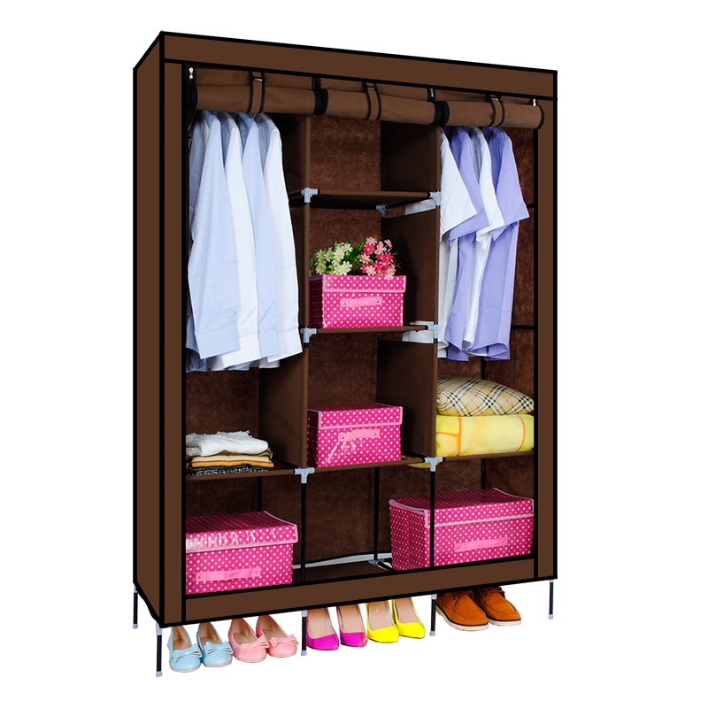 3 Door Folding Wardrobe Cupboard