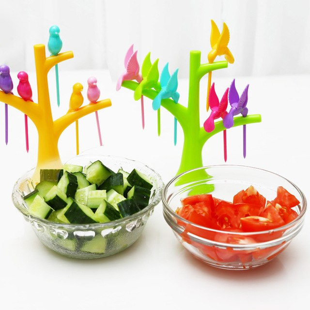 Set of 6 Birdie Fruit Forks 1