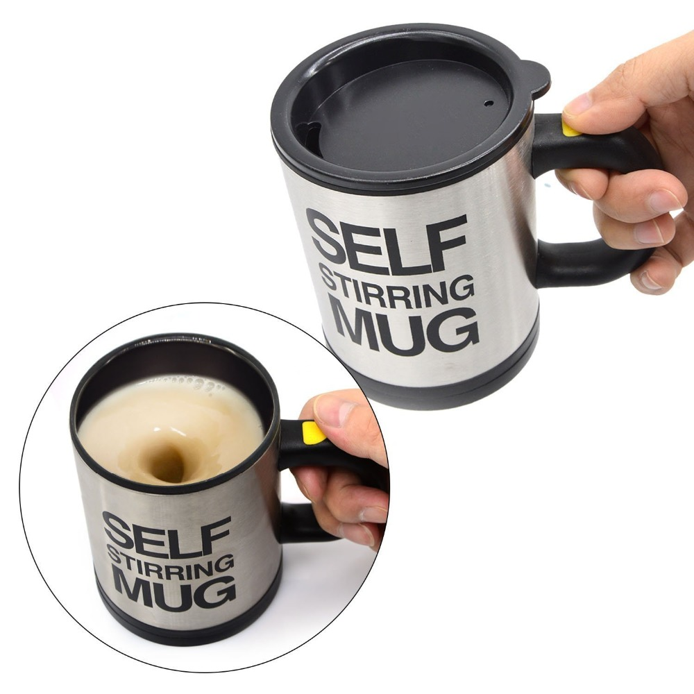 Self Stirring Mug with Lid